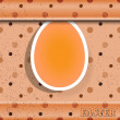 Easter egg on the grunge background — Stock Vector