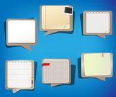 Falando de nuvens no estilo caderno, pronto para entrada de texto — Vetorial Stock