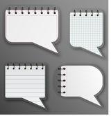Cuaderno espiral en estilo de discurso — Vector de stock