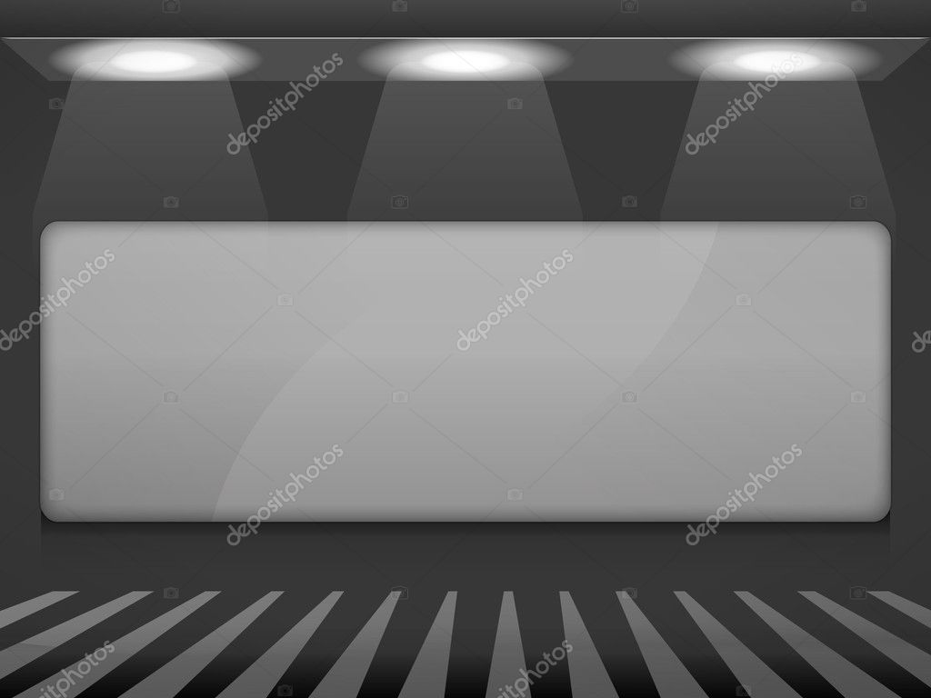 Empty storefront — Stock Vector #9555066