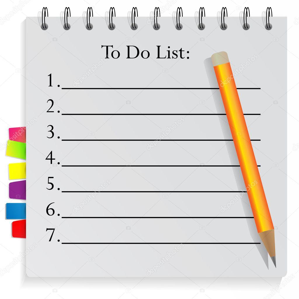 Bloc notes de spirale pour faire la liste avec des signets - Telecharger un bloc note pour le bureau ...