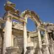 Hadrian temple in Ephesus - Stock Photo