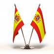 Stock Photo: Miniature Flag of Spain (Isolated)