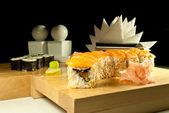 Sushi with salmon — Stock Photo