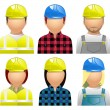 Construction Avatars and User Icons - Stock Vector
