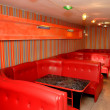 Stock Photo: Interior cafe with red seats
