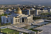 General Views to the president palace. Ashkhabad. Turkmenistan. — Stock Photo