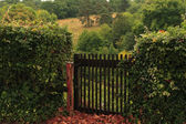 The gate in the hedge, Burgundy, France. — Stock Photo