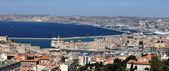 Marseille city view from the notre dame de la garde's hill — Stock Photo