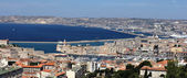 Marseille city view from the notre dame de la garde's hill — Stock Photo