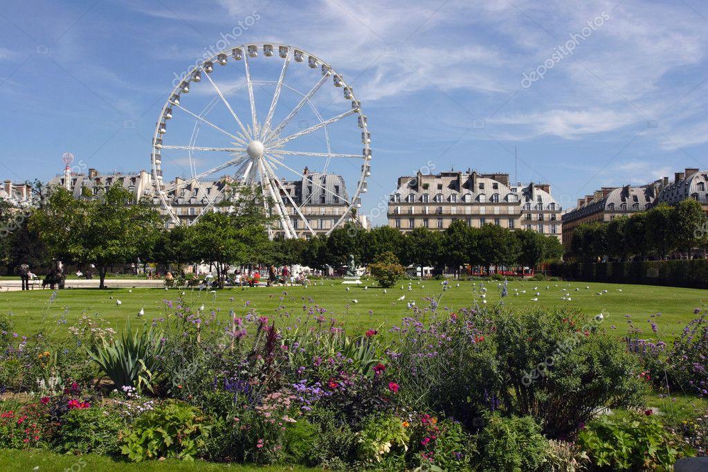 Rueda de la fortuna en el jard n de las tuller as en par s francia foto de stock velirina - Jardin exotique de roscoff paris ...
