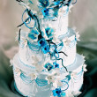 Wedding Cake with Flowers — Stock Photo #8558593