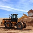Stock Photo: Yellow Bulldozer at Construction Site
