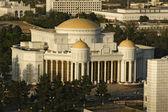 Ver en el nuevo palacio blanco. ashkhabad. turkmenistán. — Foto de Stock