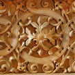 Stock Photo: Wood carved ornament on wall of Christichurch