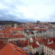 Stock Photo: Aerial view of Prague city from hill