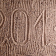 Inscription 2013 on sand — Stock Photo #10140509