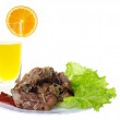 Meat and juce — Stock Photo