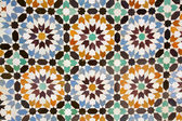 Arab mosaic background — Stock Photo