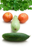 Happy face in vegetable, healthy eating — Stock Photo