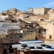 Rooftop scene in Fez, Morocco — Stock Photo