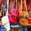 Colorful bags in a market in the street — Stock Photo #8275052
