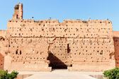 Ancient wall at El-Badi Palace — Stock Photo