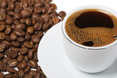 Cup of coffee on white background — Stock Photo