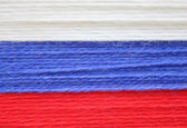 The Russian flag White blue and red — Stock Photo