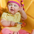 Baby in hat — Stock Photo