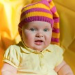 Stock Photo: Baby in hat