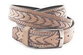 Brown men's belt — Stock Photo