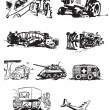 Stock vektor: Vintage vehicles