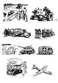 Vintage vehicles — Vector de stock