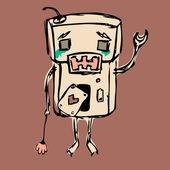 Los robots no lloran — Vector de stock