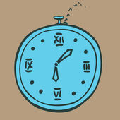 Cartoon clock — Vector de stock
