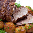 Roast leg of lamb — Stock Photo #8248651