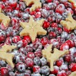 Cranberry tart. Isolated. - Stock Photo