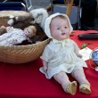 Flea market. Vintage dolls. - Stock Photo