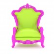 Luxury modern green chair in a pink frame 2 — Stock Photo #9061276