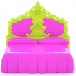 Modern pink bed — Stock Photo