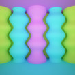 Colored relief columns  — Stock Photo
