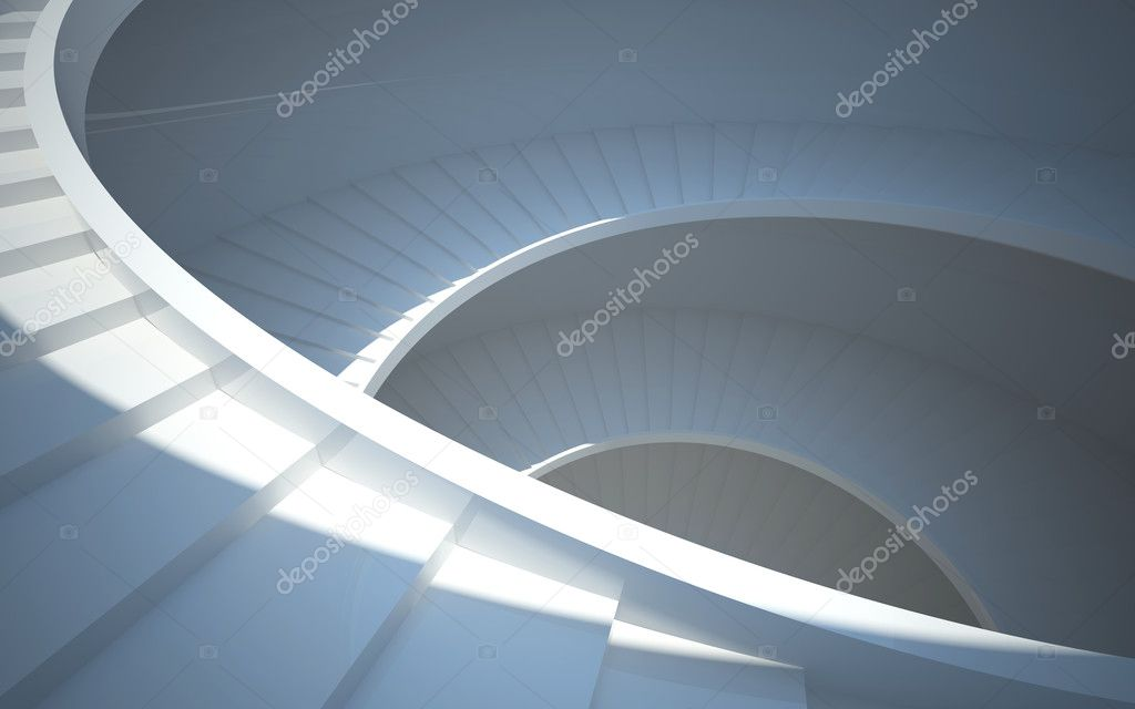 Endless staircase in the atrium — Stock Photo #9061337