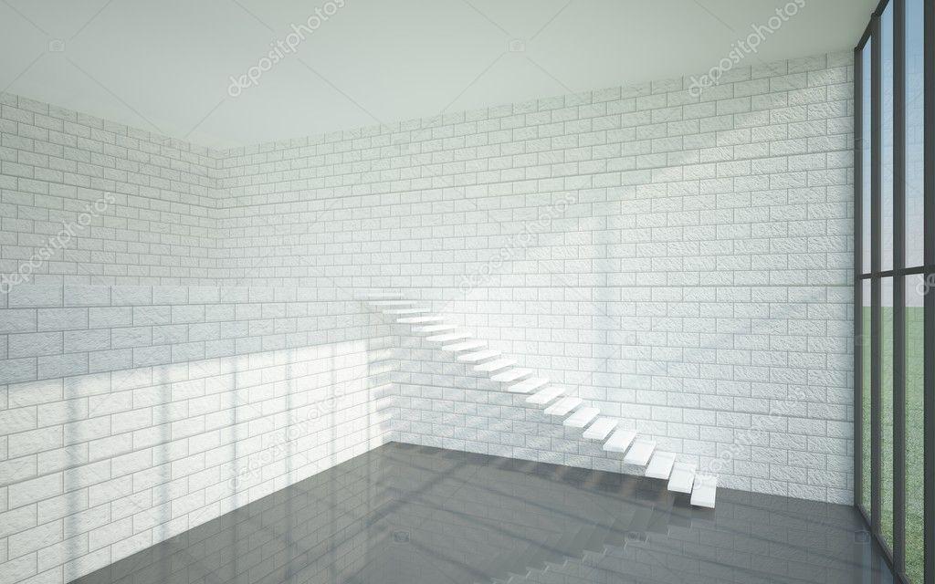 El interior de una casa de dos pisos en un estilo for Pisos para casas estilo minimalista