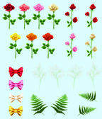 Roses for making bouquets — Stock Vector