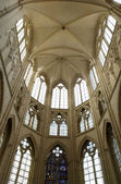 France, the gothic church of Saint Sulpice de Favières — Stock Photo