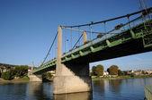 France, suspension bridge of Triel Sur Seine — Stock Photo