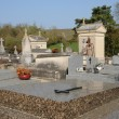 The cemetery of Condecourt  in Val d'Oise — Stock Photo