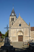 Ile de France, the old church of Villers en Arthies — Stock Photo