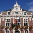 France, historical city hall of Villers ur Mer — Stock Photo #10240063